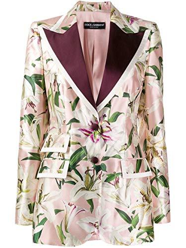 Dolce e Gabbana Luxury Fashion Woman F29AYTHS149HFKK8 Pink Polyester Blazer | Fall Winter 19