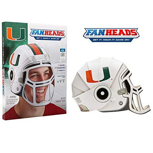 Fan Heads Miami Hurricanes Helmet