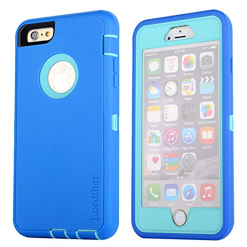Iphone 6 Plus Case Lordther® Shock-resistant Dustproof Armor Case Cover [ONLY for Iphone 6 Plus] (Light Blue)