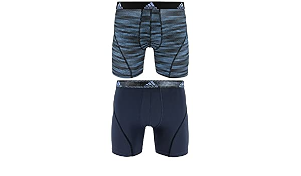 Adidas - Camiseta de Deporte Performance Climalite Boxer Breve Ropa Interior (2 Unidades), Hombre, Blue Ratio Urban Sky Ratio: Amazon.es: Deportes y aire ...