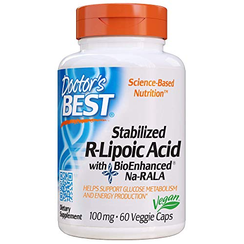 Doctor's Best Stabilized R-Lipoic Acid with BioEnhanced Na-RALA, Non-GMO, Gluten Free, Vegan, Helps...