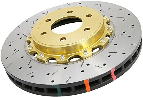 DBA DBA52322.1XS 5000 Series XS Premium Cross-Drilled and Slotted Front Vented Replacement Rotor with NAS Lock Nuts