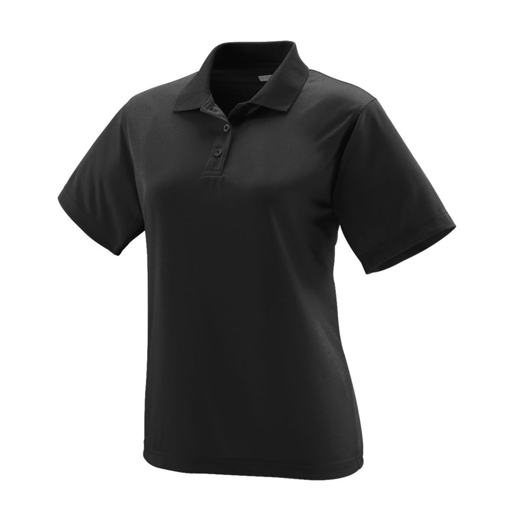 Bowlerstore Products Augusta Sportswear Ladies Wicking Mesh Sport Shirt- Style 5097 (Large, Black) by Bowlerstore Products (Image #1)