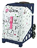 Zuca SK8 Sport Insert Bag and Navy Blue Frame with Flashing Wheels