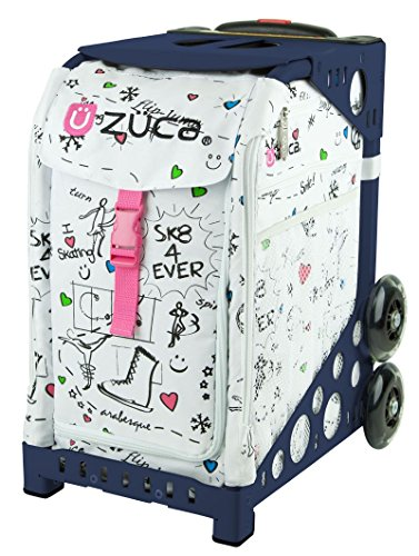 Zuca SK8 Sport Insert Bag and Navy Blue Frame with Flashing Wheels by ZUCA