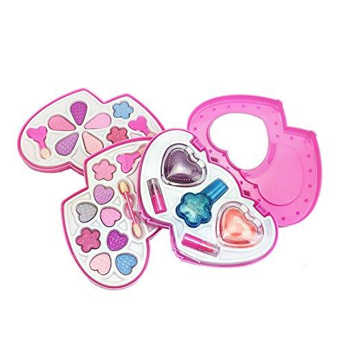 Make-up set bambine non tossico sicuro Tutti-in-One Deluxe Cosmetics fingono il giocattolo,Regalo di Halloween bambino