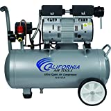 California Air Tools CAT-5510A Ultra Quiet & Oil-Free 1.0 hp 5.5 gallon Aluminum Portable Electric Portable Air Compressor, Silver