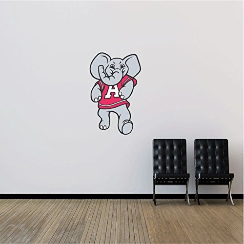 Alabama Crimson Tide NCAA USA Elephant Logo College Sport Art Wall Decor Sticker 25'' x 15''