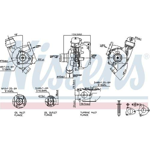 Nisss 93203 Turbo Charger: