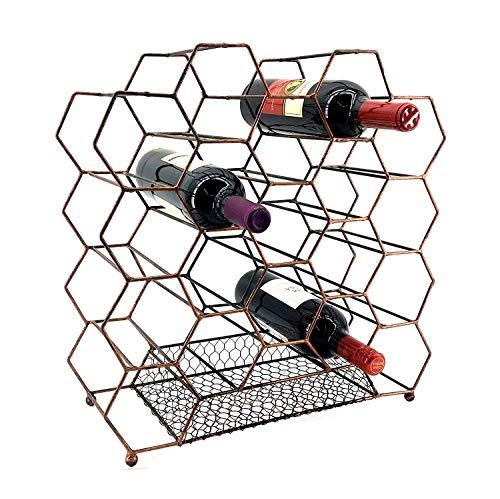 Bellaa 23424 Metal Geometric Design 20 Bottles