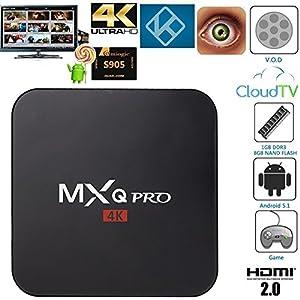 GooBang Doo MXQ Pro Android TV Box 64 Bit Amlogic S905 Android 5.1 Lollipop...