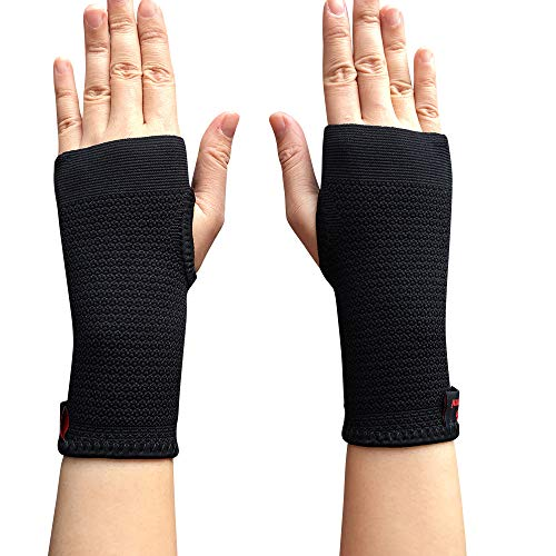 Tunnel Syndrome Pain Relief Cream - Kuangmi Compression Wrist Support Sleeve Palm Hand Brace Carpal Tunnel (Large (Pack of 2))
