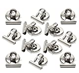Strong Magnetic Clips - Heavy Duty Refrigerator Magnet Clips - 31mm Wide Scratch Safe - Clip Magnets Best for House Office School Use(12Pack)