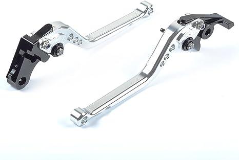 Tencasi Argent CNC Court Reglable Leviers de Frein dembrayage pour Yamaha FJ-09//MT-09 Tracer 2015-2018