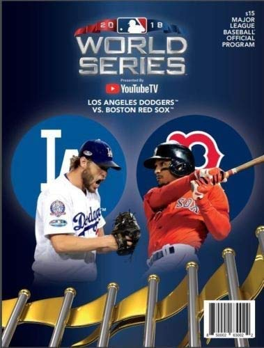 2018 Official World Series Program Boston Red Sox vs. Los Angeles Dodgers