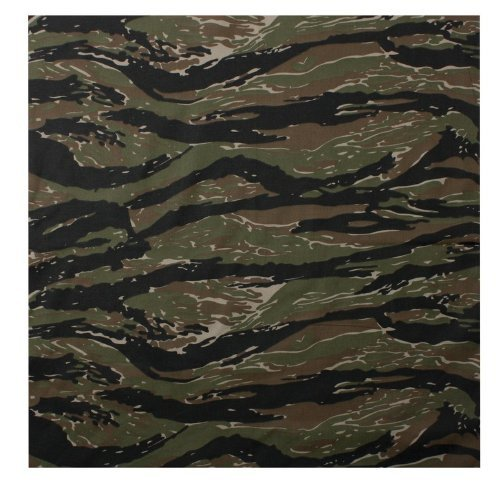 (Rothco Bandana, Tiger Stripe Camouflage, 27'' x 27'')