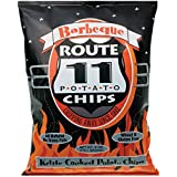 Route 11 Barbeque Potato Chips, kettle cooked BBQ Barbecue Chips, non-GMO, gluten free, nut free (4 bags (6 oz each))