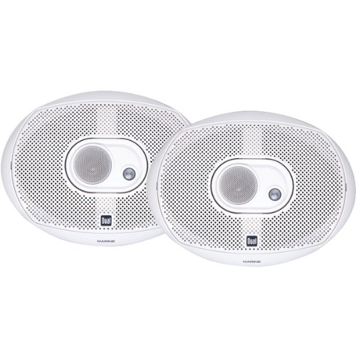 Dual Electronics DMS369 Two 6 x 9 inch 3 Way Marine Speakers with 200 Watts of Peak Power