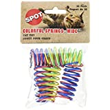 Ethical Pet Wide Durable Heavy Gauge Plastic Colorful Springs Cat Toy, 10-Pack