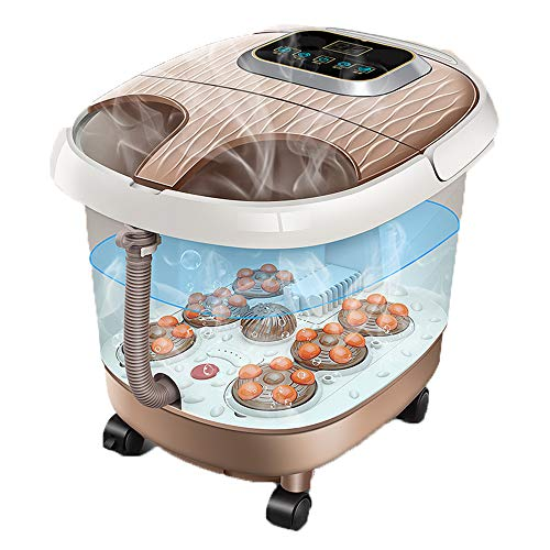 AIWO Leg and Foot Massager Machine Foot Spa Bath Massager with Heat Extra Deep Electric Pedicure Bubble Time Temperature Adjustable Therapy Pain Relief