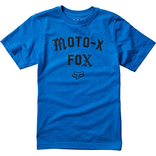 Fox Racing Big Boys' Agent Short-Sleeve Shirts,Small,True Blue (Fox Racing Kids Clothing Casual)
