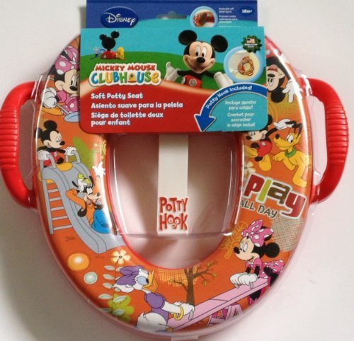 Disney Mickey Mouse ClubHouse Potty Seat with Hook Minnie Pluto Daisy Duck Goofy