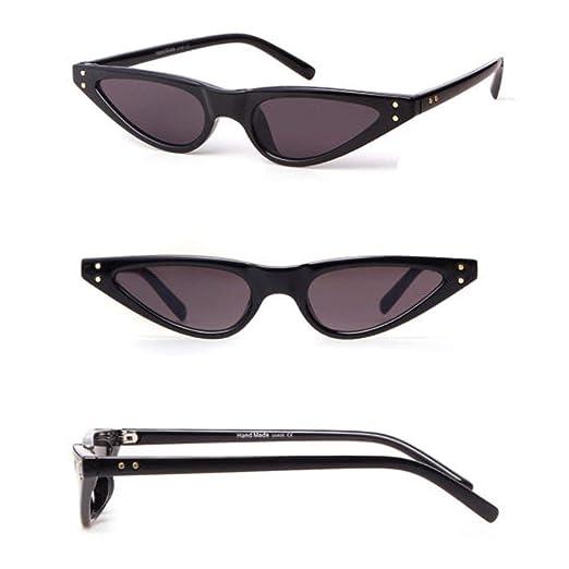 f8fc0ac4223 Amazon.com  Classic Cateye Sunglasses Steampunk Small Retro Vintage Women  Fashion Shades Riv  Clothing