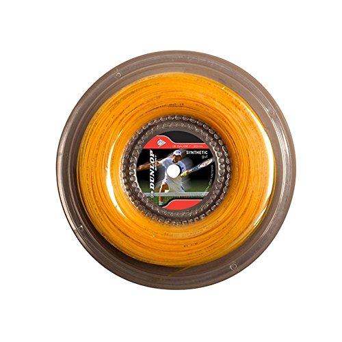 Dunlop Synthetic Gut (16g-1.30mm) Tennis String Reel (Gold)