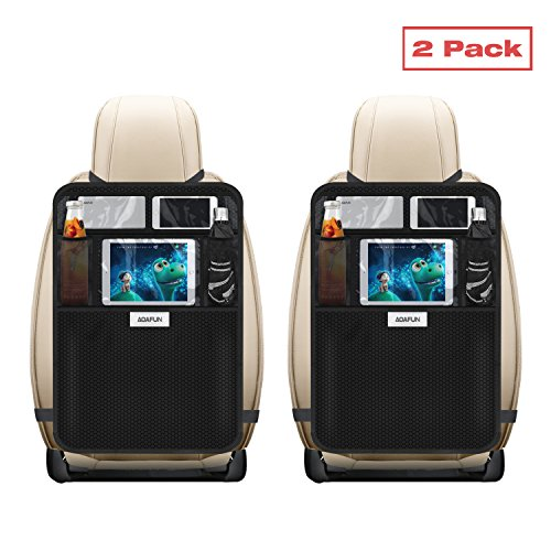 Read About Aoafun Kick Mats with Multi-pocket Organizer, 2 Pack, Aoafun Seat Back Covers for Car, SU...