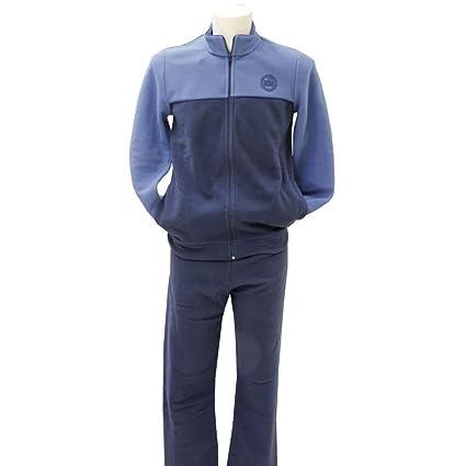 Pijama para hombre de forro polar con cremallera Blu 46