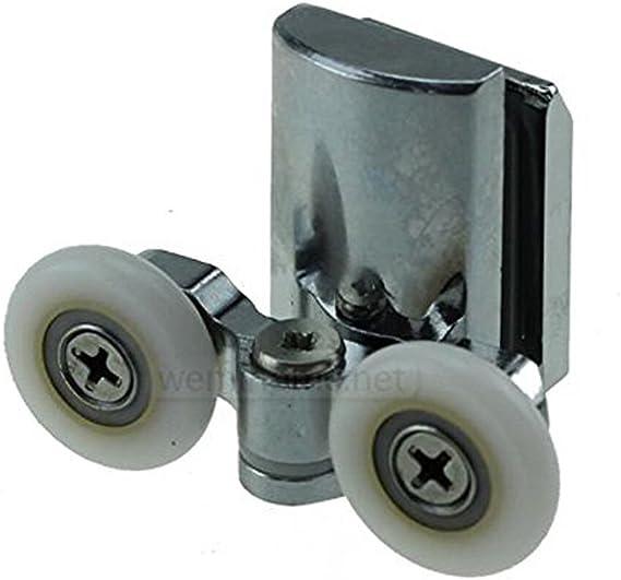 Rodamientos inferiores para mamparas de ducha, 23 mm, 4 unidades ...