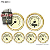 Aurora Instruments 4575 American Classic Tan Metric Style Kit (Black Classic Needles, Gold Trim Rings)
