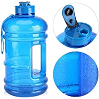 GULPA™ 2.2L Large Sports Water Bottle With Carrying Strap Leak Proof Wide Mouth Lid Dishwasher Safe Lightweight Food Grade Tough Tritan Plastic Large Capacity Water Jug Gym Shaker Bottle Aussie 24 x 7 Support Food Grade BPA Free