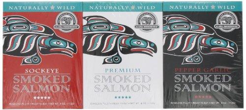 Alaska Smokehouse Smoked Salmon/Pepper Garlic/Sockeye Gift Set (Garlic Pepper Smoked Salmon)