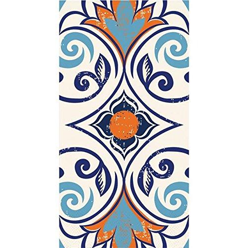 (Elise 3-Ply Paper Moroccan Tile Vintage, 16 Count Guest Towel Napkins)