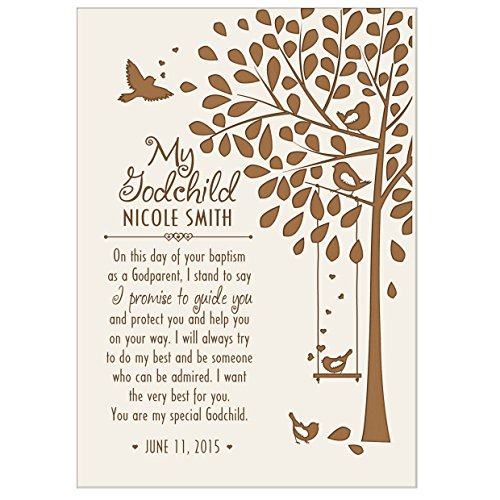 Personalized Baptism Gifts for Girls and Boys 1st holy communion Ideas for Godchildren Christening Gift Wall plaque (6x8, White) (First Holy Communion Gift Ideas)
