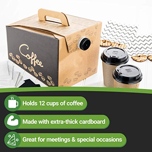 Coffee Take Out Carrier, Disposable Coffee Dispenser, Insulated Hot (12 Cup) 6
