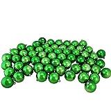 Northlight 60ct Shiny Xmas Green Shatterproof Christmas Ball Ornaments 2.5'' (60mm)