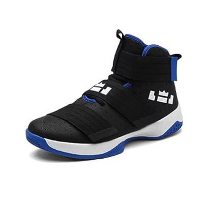 ASHION Herren Basketballschuhe Sneakers Ausbildung Outdoor Turnschuhe, 2-schwarz, 41 EU