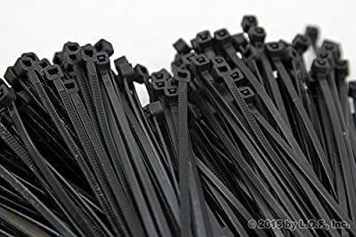 "500-Pack Heavy Duty 8"" (50lbs) Zip Cable Tie Down Strap Wire Uv Black Nylon Wrap"