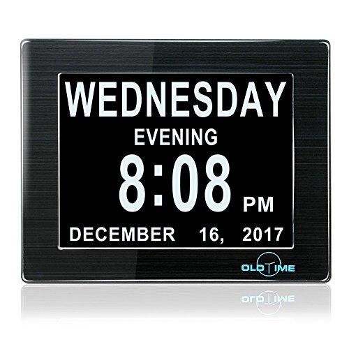"8"" LED Clock - The Original Memory Loss Digital Calendar Day"