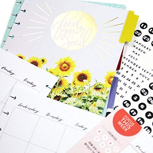 Undated Monthly /& Weekly me /& my BIG ideas 6 Month Wellness Extension The Happy Planner Scrapbooking Supplies 2  Sticker Sheets with Months and Numbers 7 Pre-Punched Dividers Classic Size