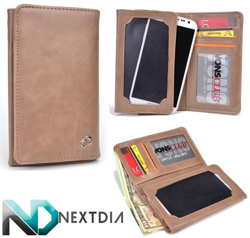 unisex-mens-bifold-wallet-case-huawei-activia-4g-universal-fit-tuscan-tan-with-viewing-screen-nd-cab