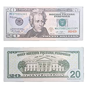 COPY MONEY $20 X 200 Pcs Imitation Dollar Fake Money Props Money Only Motion Picture Purposes-for Movie, TV, Videos, Advertising & Novelty