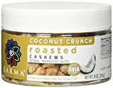dry roasted coconut - KARMA Premium Dry Roasted and Salted Whole Cashews, Coconut Crunch, 8 Ounce