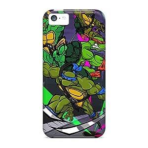 Iphone 5c SBX1547pIar Customized Fashion Ninja Turtles Image Protective Hard Phone Case -JohnPrimeauMaurice