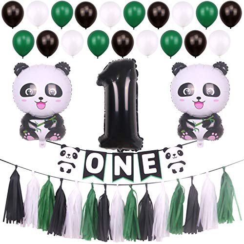 ONINIT Panda Theme Party Decorations Baby Girl Boys 1st Birthday Decoration Supplies Summer Winter
