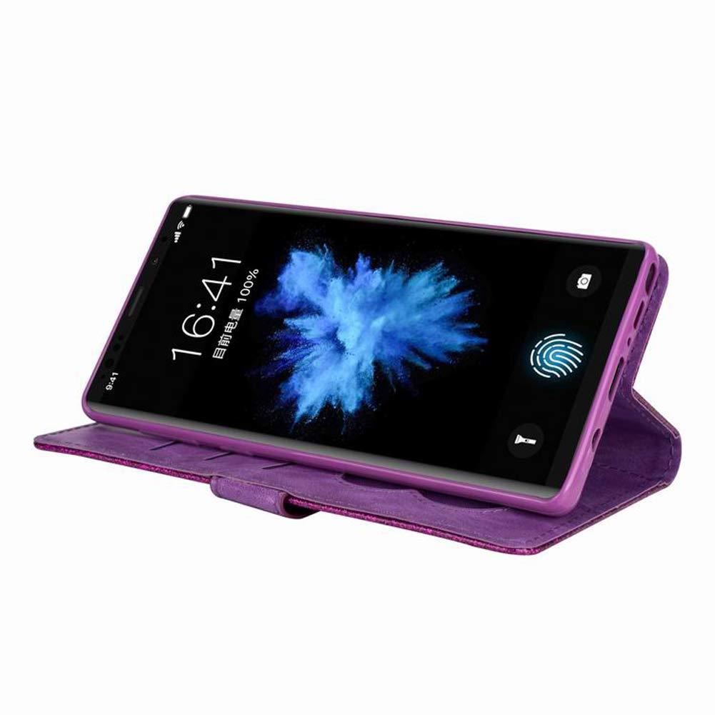 Funda de piel sint/ética para Samsung Galaxy S10 Plus Oro Rosa Homikon dise/ño brillante funci/ón de atril, cierre mediante solapa, funci/ón de atril