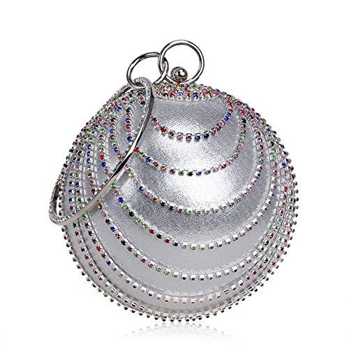 Flada - Cartera de mano para mujer Gris Silver Color Medium Silver Color