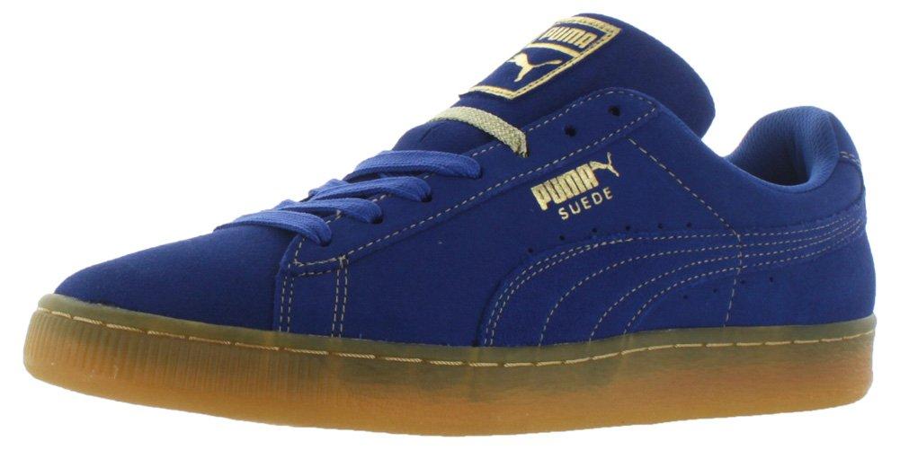 PUMA Adult Suede Classic Shoe B01DTJGE9O 8 D(M) US Surft the Web/Metallic Gold